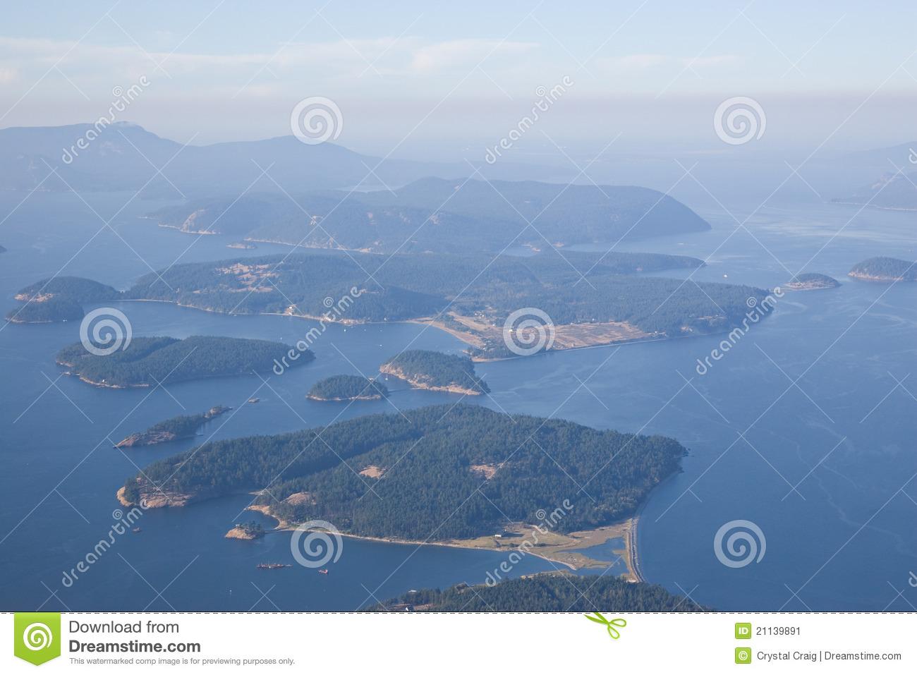 San Juan Islands Puget Sound Stock Image.