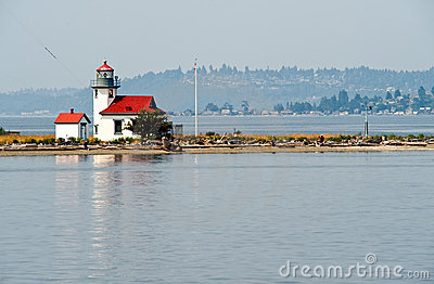 Puget Sound Lighthouse Royalty Free Stock Photo.