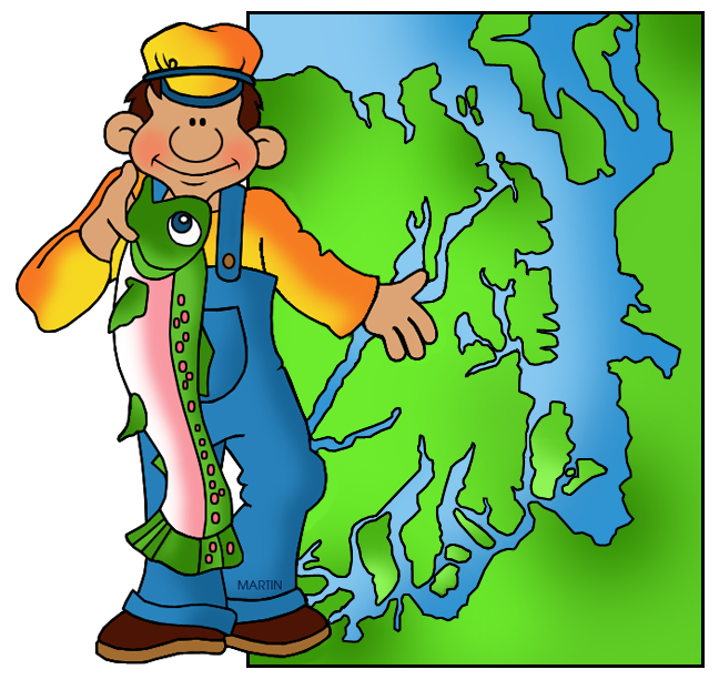 Free Landforms Clip Art by Phillip Martin, Puget Sound.