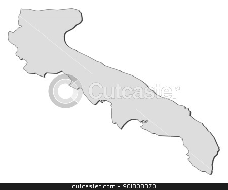 Map of Apulia (Italy) stock vector.