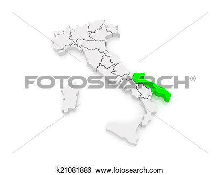 Stock Illustration of Map of Puglia. Italy. k21081886.