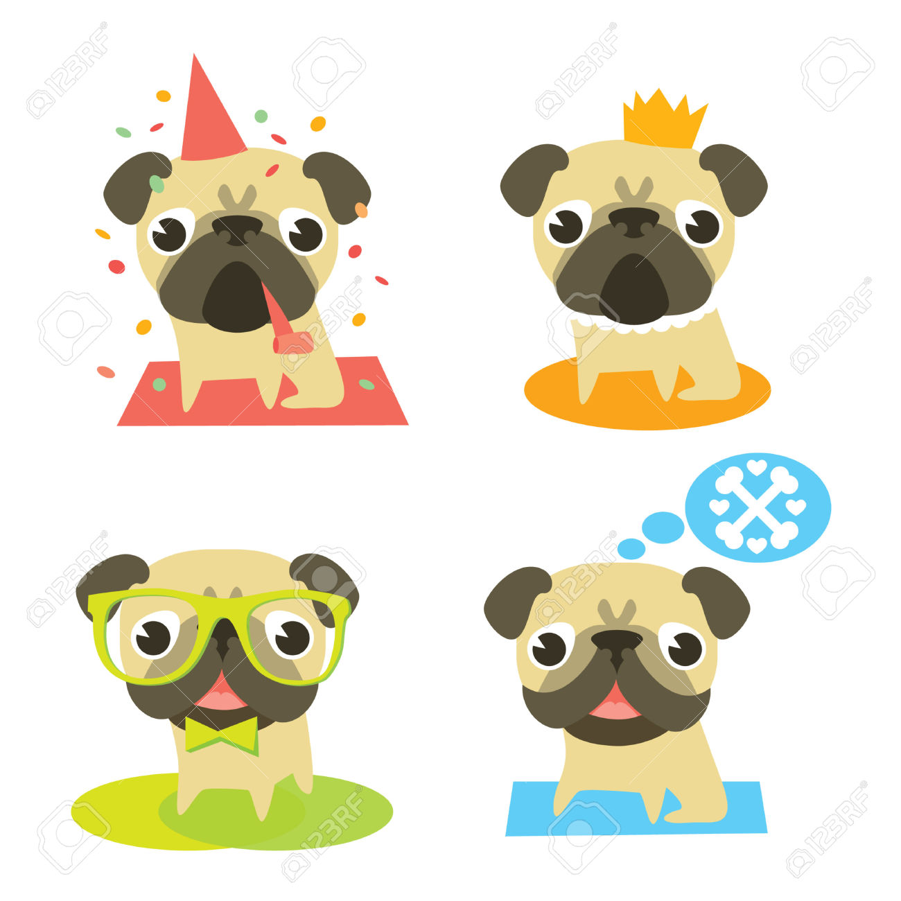 Free clipart images pug.