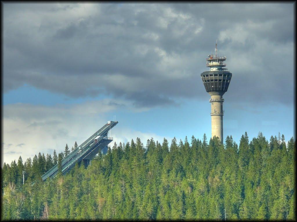 Puijo Tower and Ski Jumps.