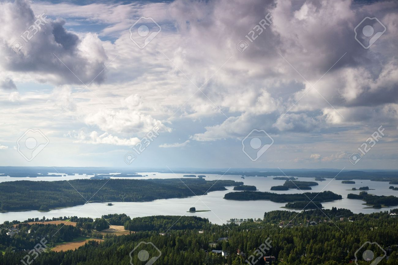 Finnish Landscape Near To Kuopio Photographed From Puijo Tower.