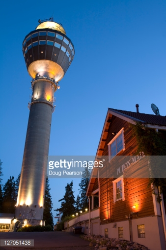 Puijo Tower Kuopio Eastern Lakeland Finland Stock Photo.