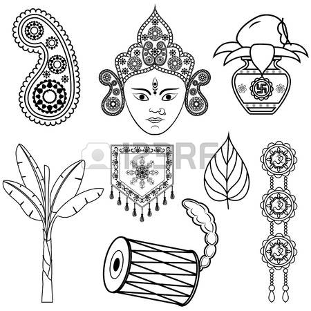 469 Durga Puja Stock Vector Illustration And Royalty Free Durga.
