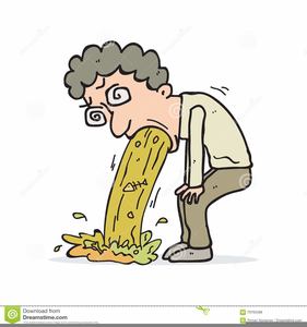 Person Puking Clipart.