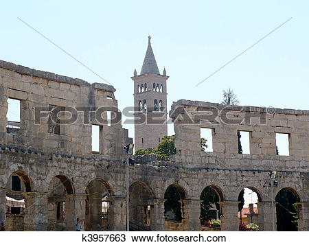 Stock Photo of Pula Arena k3957663.