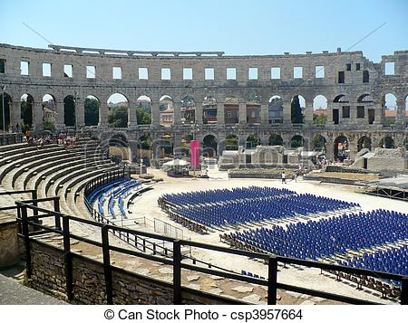 Stock Photo of Pula Arena.