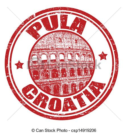 Vector Clipart of Pula stamp.
