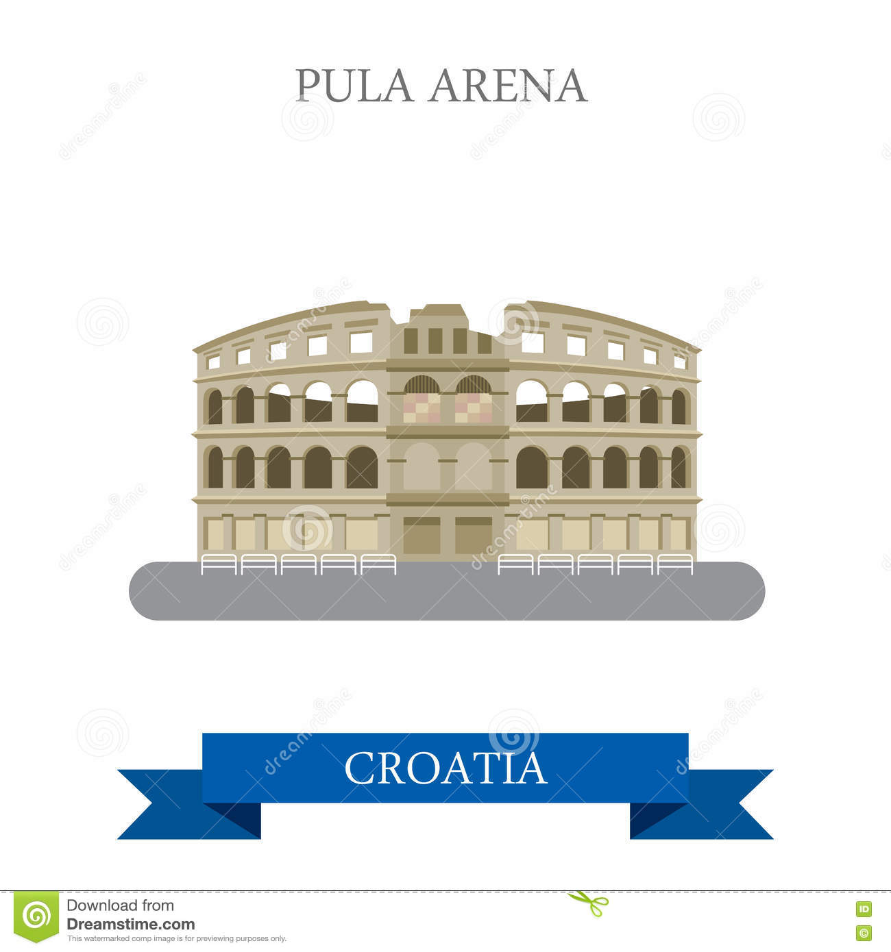 Pula Stock Illustrations.