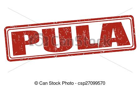 Vectors Illustration of Pula stamp.