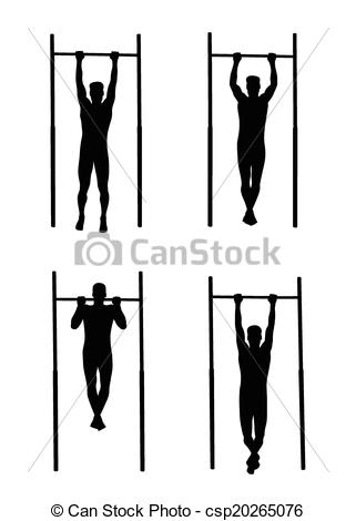 Man Doing A Pull Up Clipart.