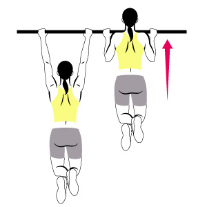 Pull up bar clipart.
