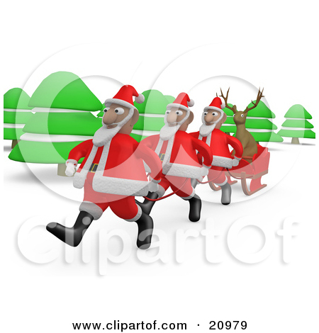 Free Vector Clipart Illustration Of Santa Claus Avatar Character.