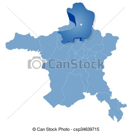 Vector Clip Art of Map of Ankara.