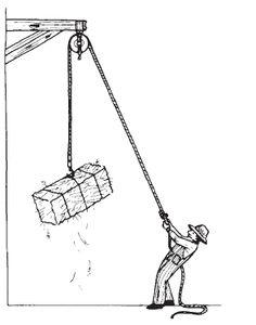 Pulley platform clipart.
