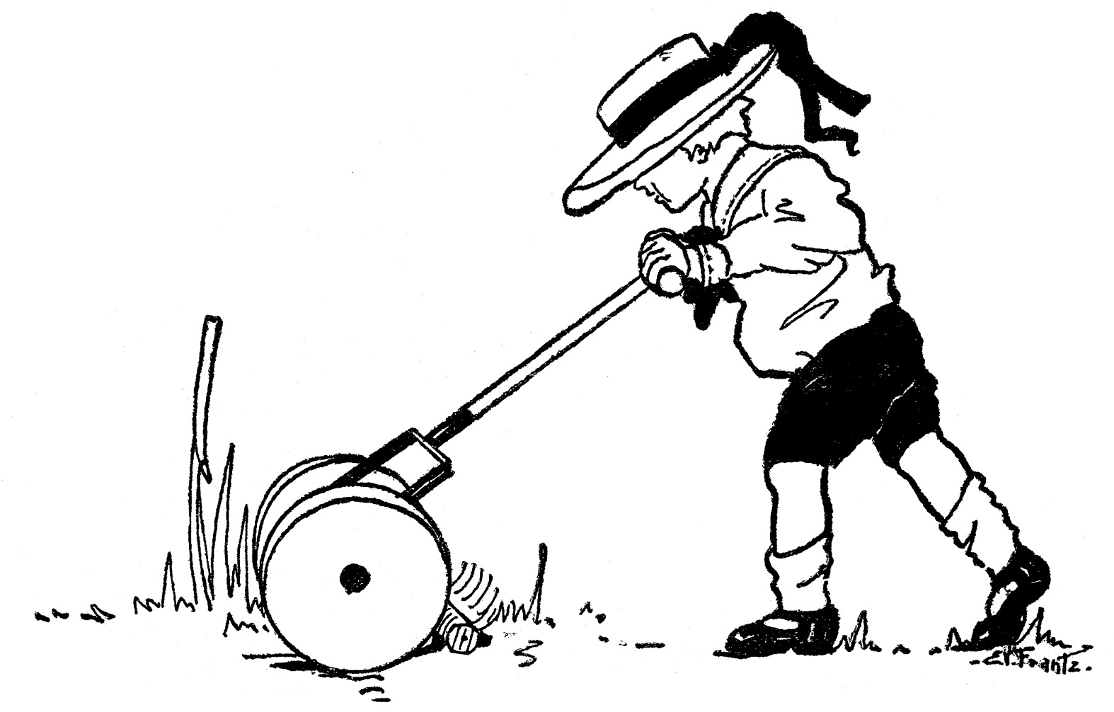 push clipart clipground lawn mowing clipart black and white lawn mowing clip art black white