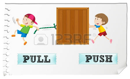 748 Push Pull Stock Illustrations, Cliparts And Royalty Free Push.