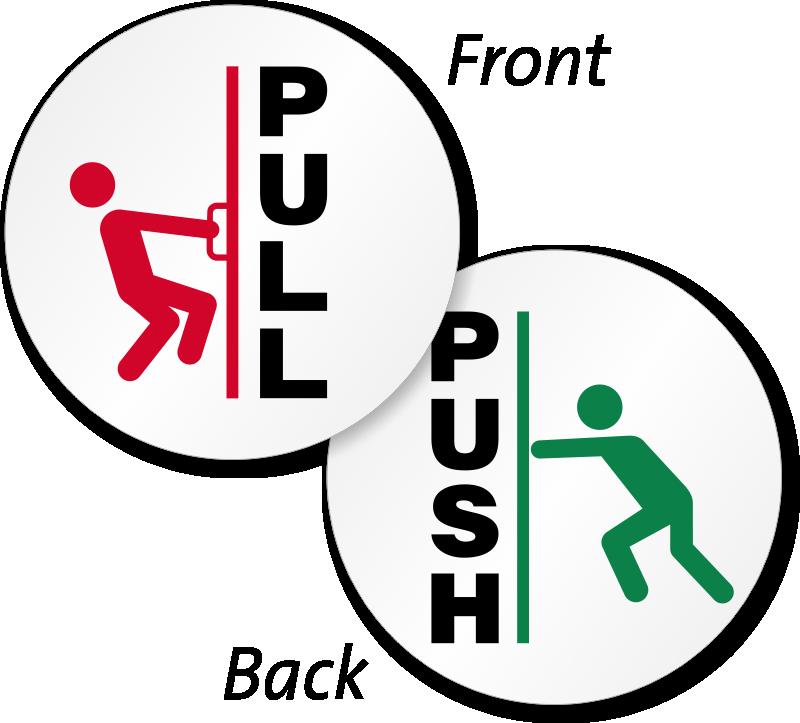 Push Door Clipart.