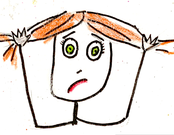 Woman Pulling Hair Out Clipart.