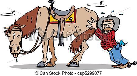 Vectors Illustration of push start horse.