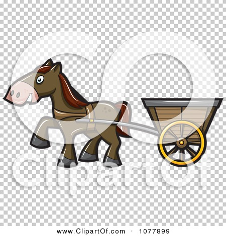 Clipart Horse Pulling A Cart.