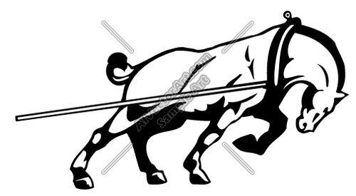 Muscular horse clipart.