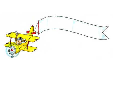 Banner plane clipart.