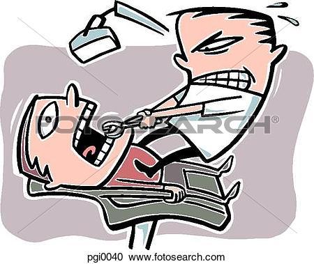 Stock Illustrations of Pulling teeth pgi0040.