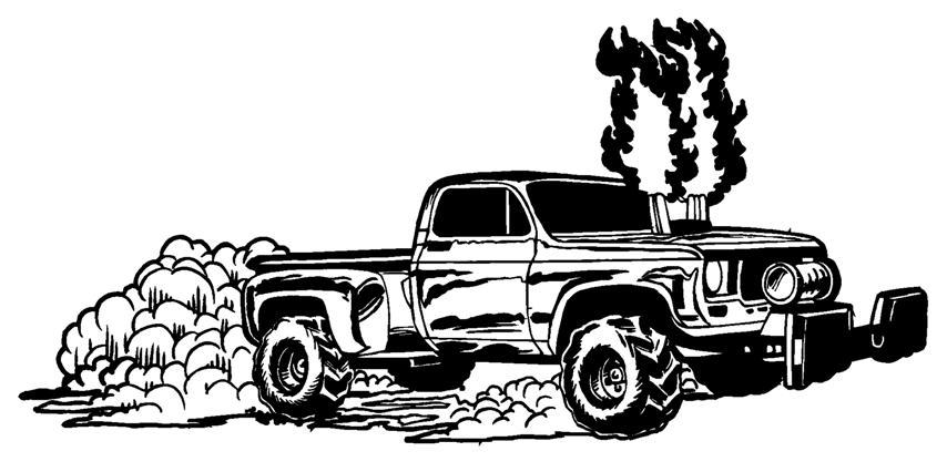 Truck pull clipart.