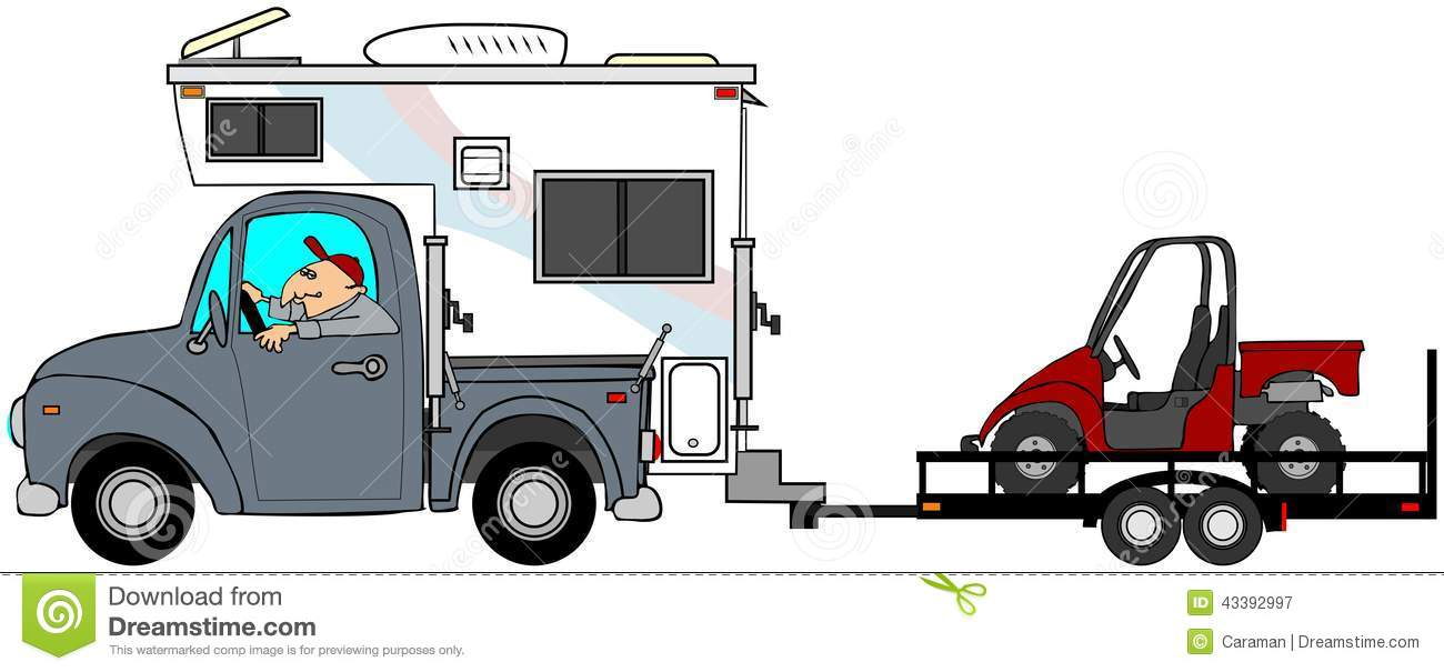 Truck And Camper Clipart.
