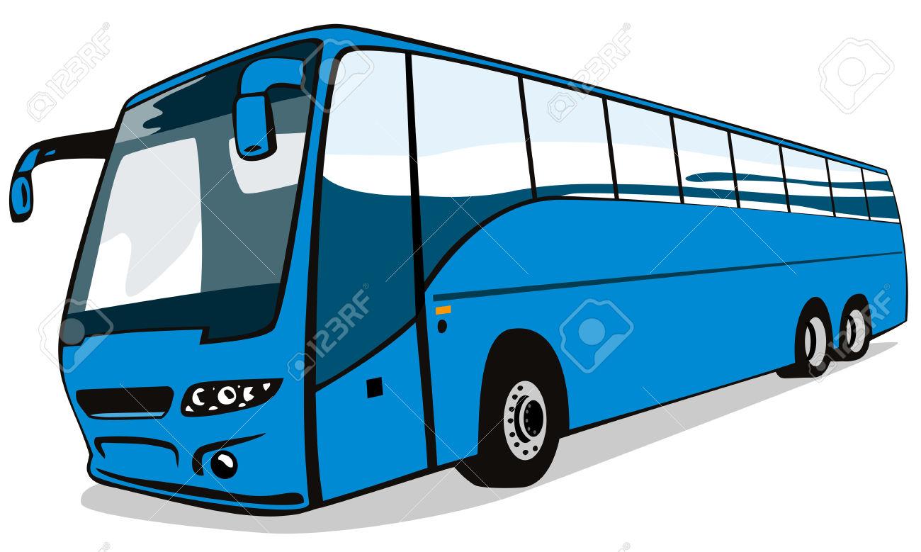 Blu Pullman Autobus Clipart Royalty.