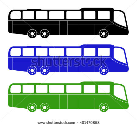 Double Deck Single Deck Open Top Stock Vector 3150351.