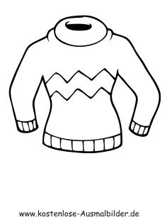 Ausmalbilder Pullover Kleidung Zum Ausmalen Malvorlagen Bekleidung.