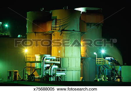 Stock Image of PULP AND PAPER MILL x75688005.