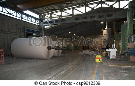 Stock Photographs of Paper and pulp mill plant.