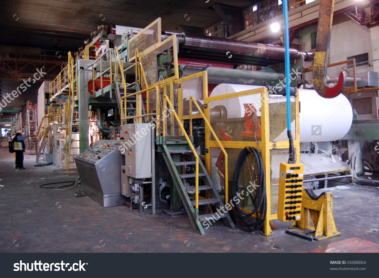 Paper Pulp Mill Fourdrinier Paper Machine Stock Photo 65088064.
