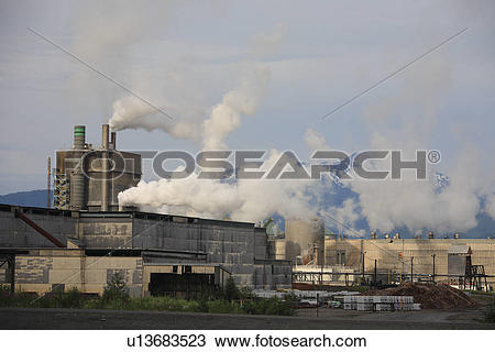 Stock Photo of Eurocan Pulp and Paper mill, Kitimat, British.