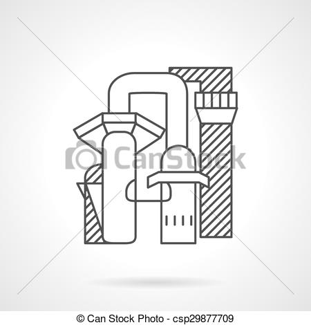 Vector Clipart of Pulp and paper mill line vector icon.