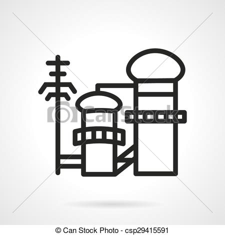 EPS Vectors of Pulp and paper factory vector icon.