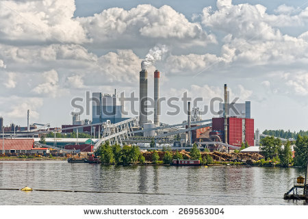 Pulp Paper Mill Stock Photos, Royalty.