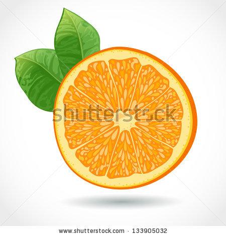 Orange Pulp Stock Photos, Royalty.