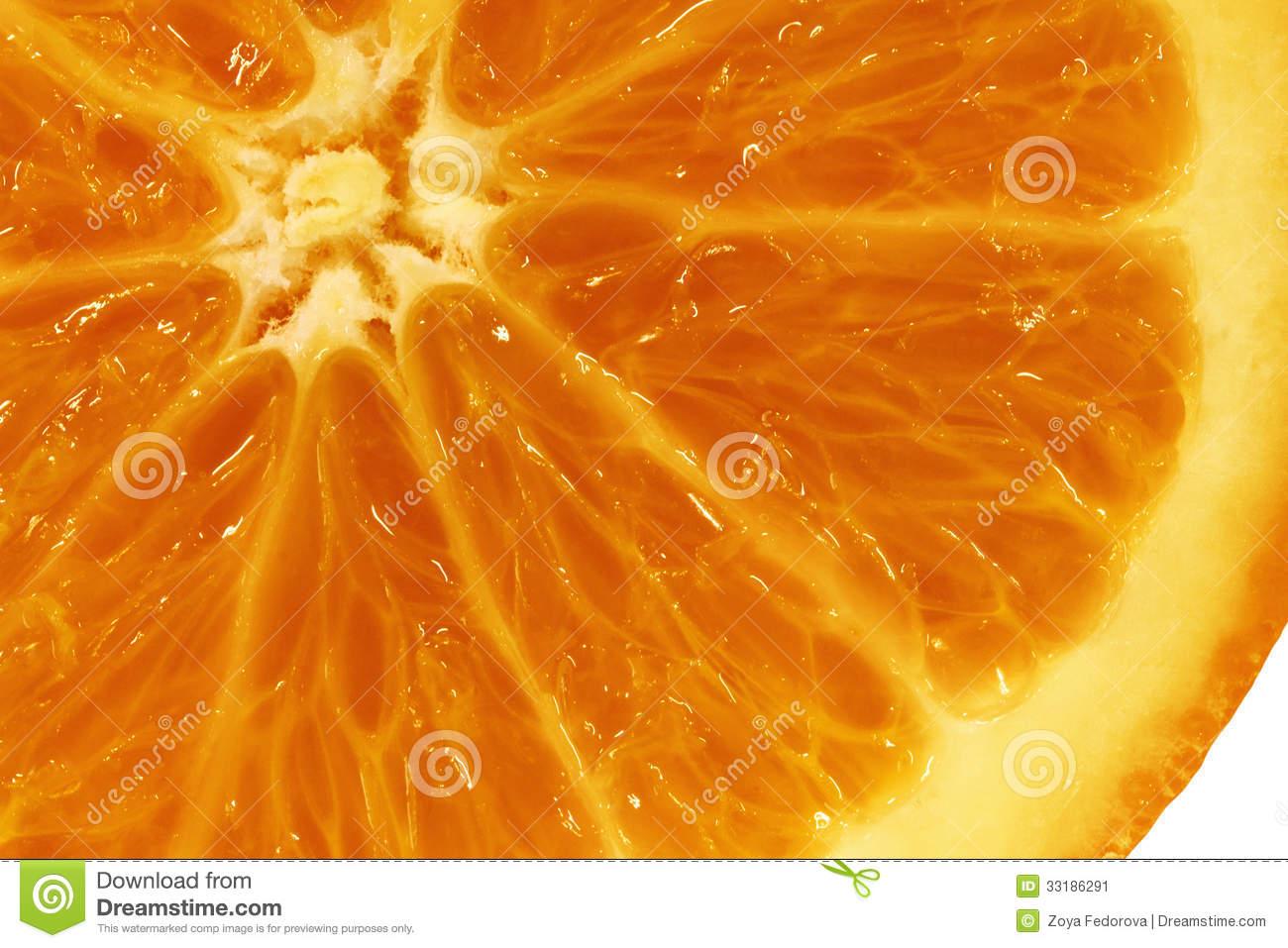 Pulp Of Orange Stock Photo.