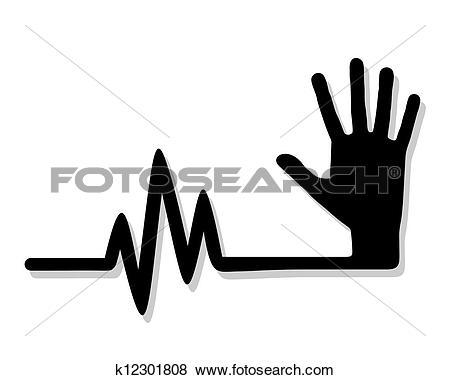 Clip Art of Pulsating hand k12301808.