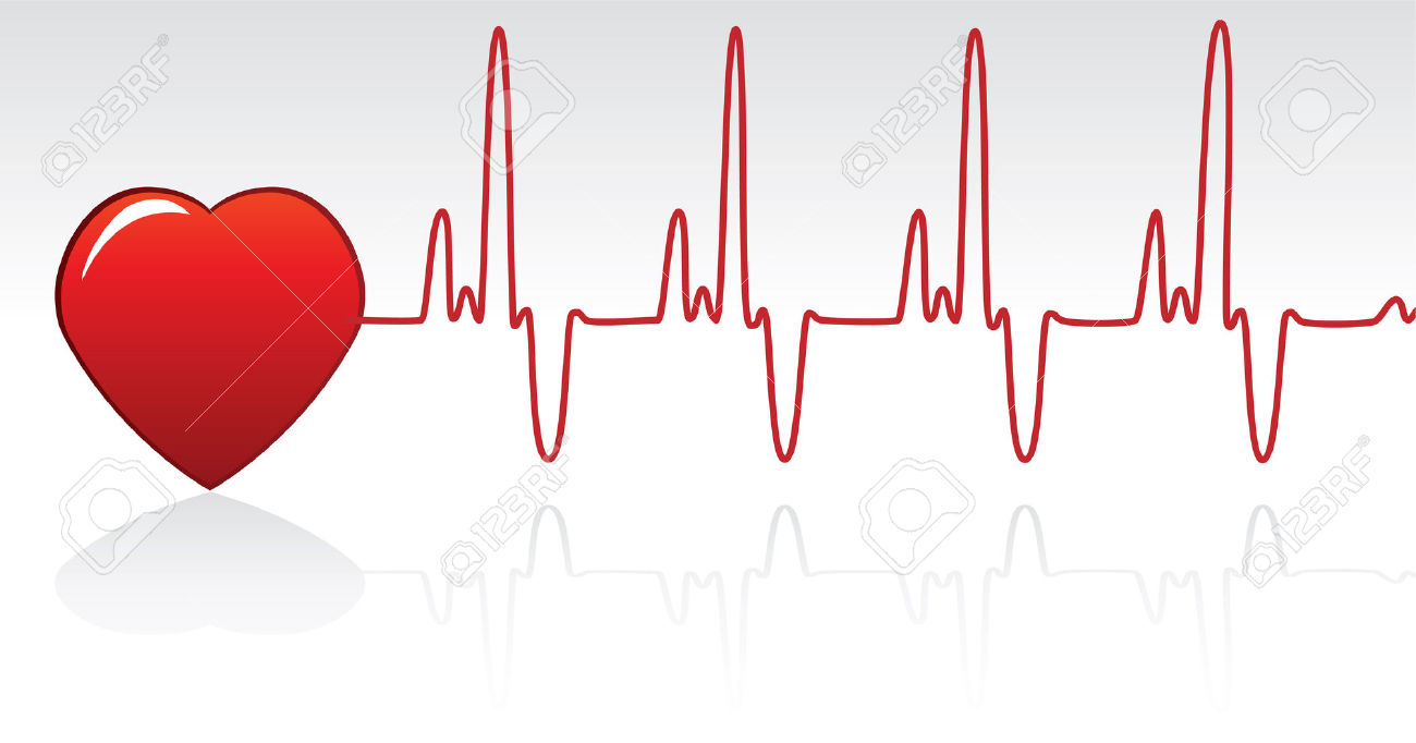 Vector Red Heart And Heartbeat Royalty Free Cliparts, Vectors, And.