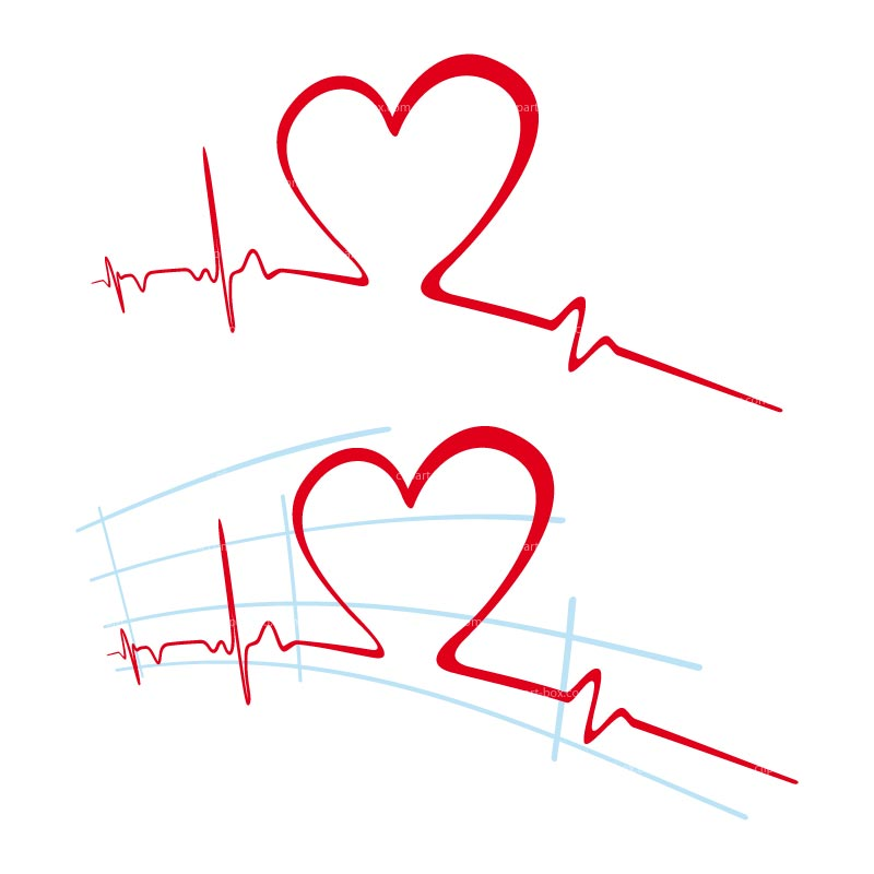Heart pulse clipart.
