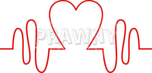 Heartbeat Health Pulse Monitor Icon Clip Art.