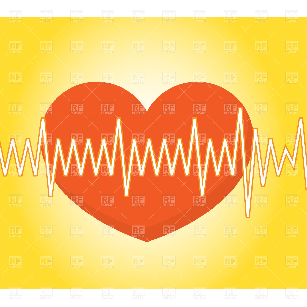 Pulse Trace and heart Vector Image #822.