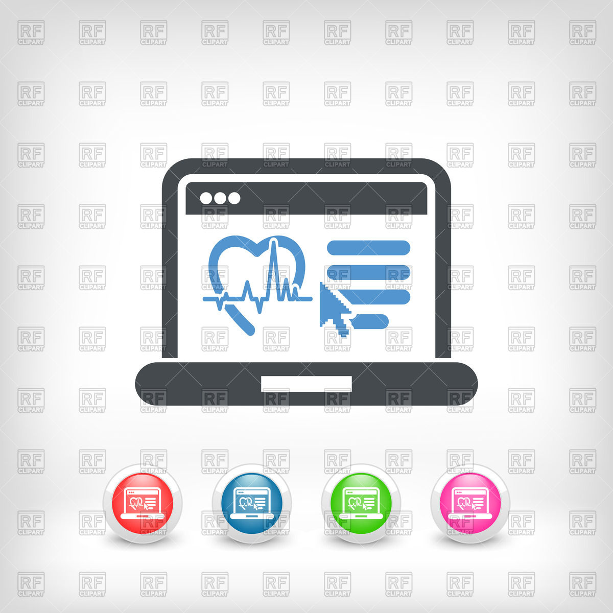 Medical background with ECG pulse tracing Vector Image #8028.